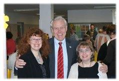 Babeth Ligen, Christine Duval et M. le Maire Dieter Spindler