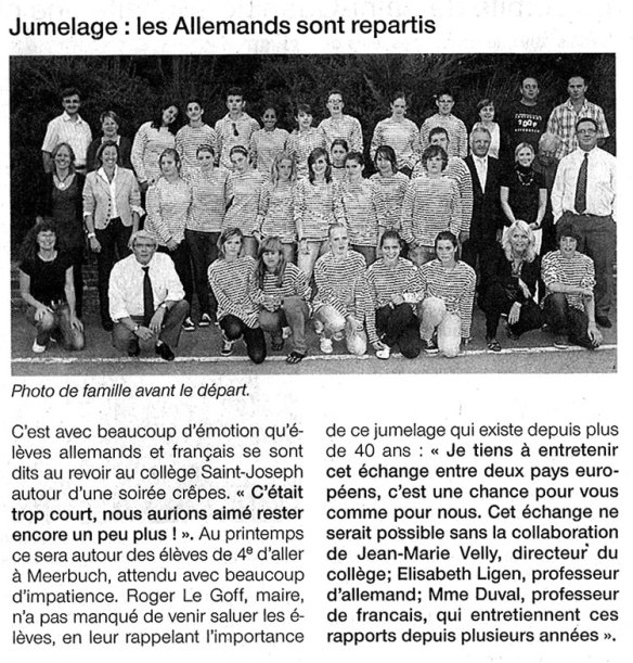 Ouest France - Realschule Osterath