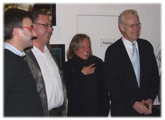 Réception avec le maire