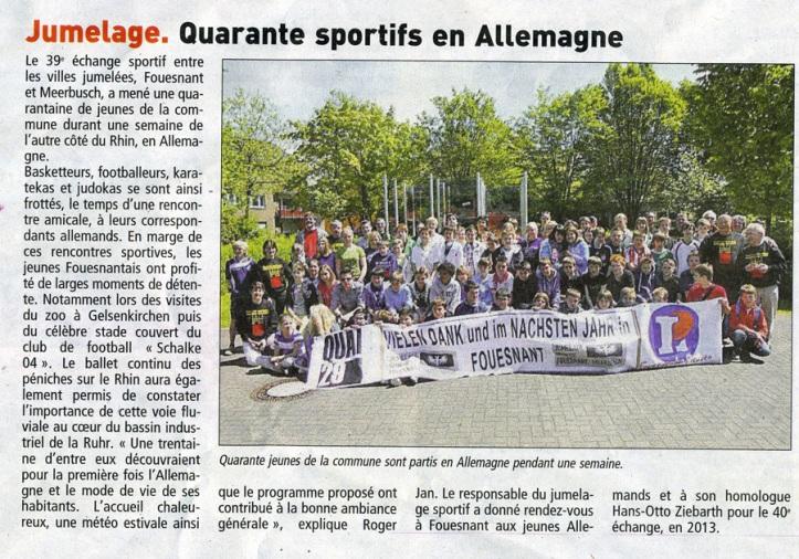 Le Télégramme - 24 mai 2012