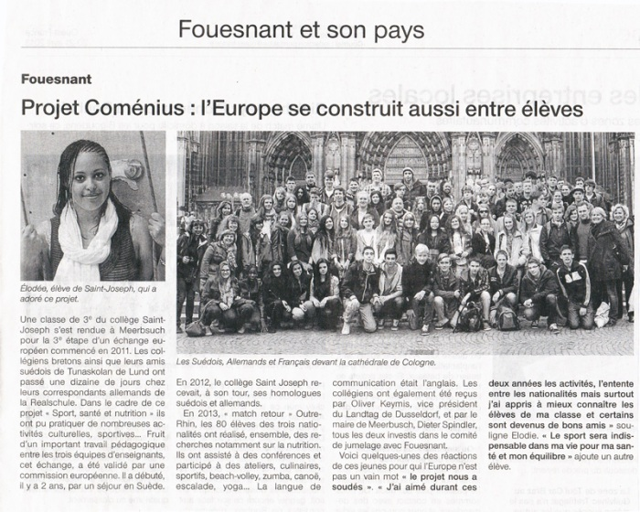 Ouest France 5 avril 2013