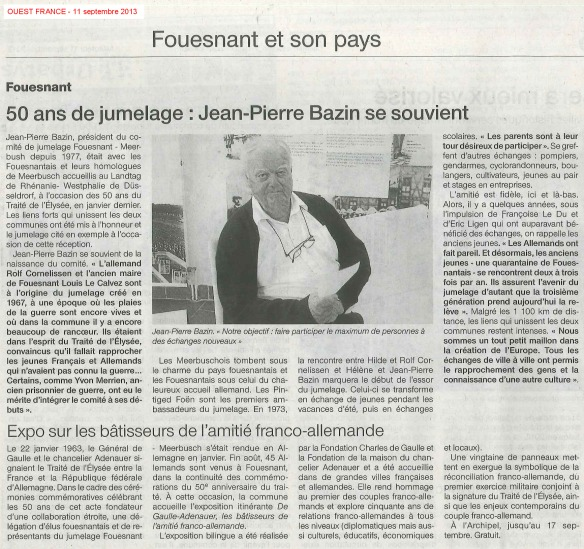 Ouest France 11 09 13