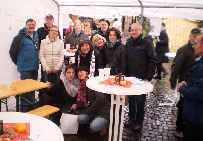 Die Anciens Jeunes auf Nikolausmarkt in Lank