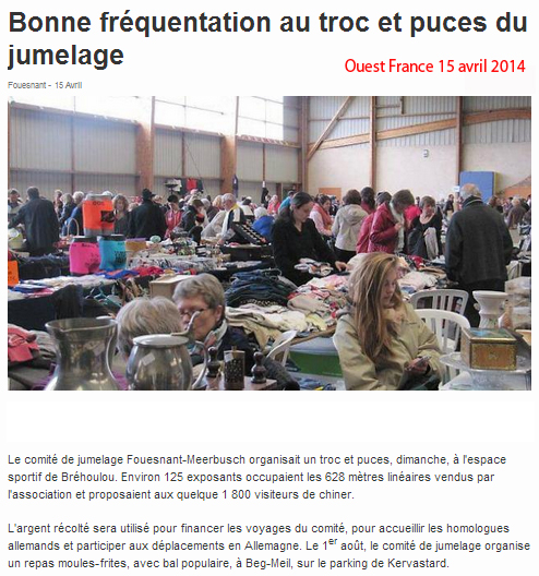 Ouest France 15 avril 2014