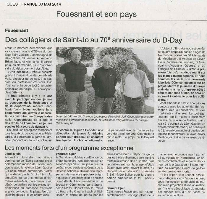 Ouest france 30 05 14