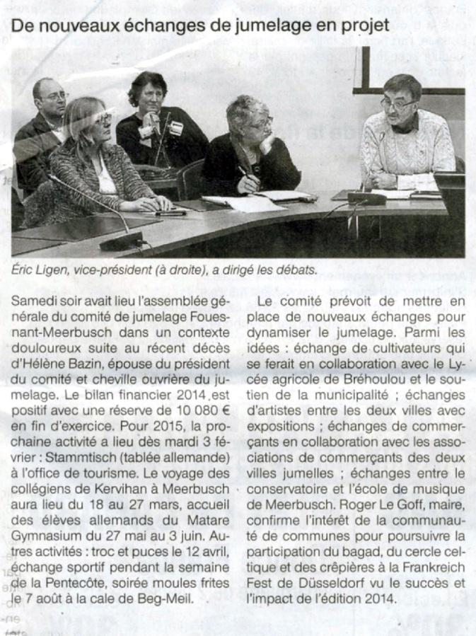 Ouest France - 3 février 2015