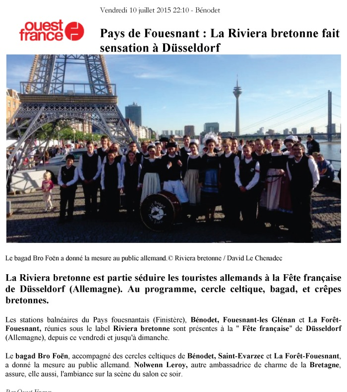 Ouest France - 10 juillet 2015