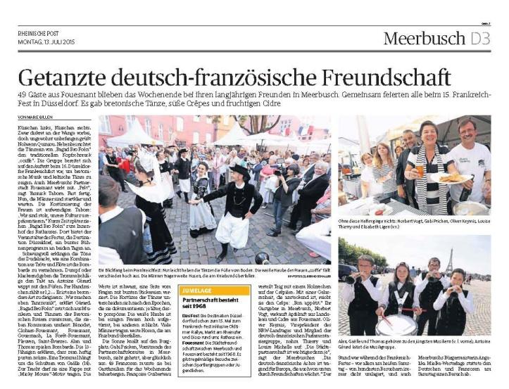 Rheinische Post - 13. Juli 2015