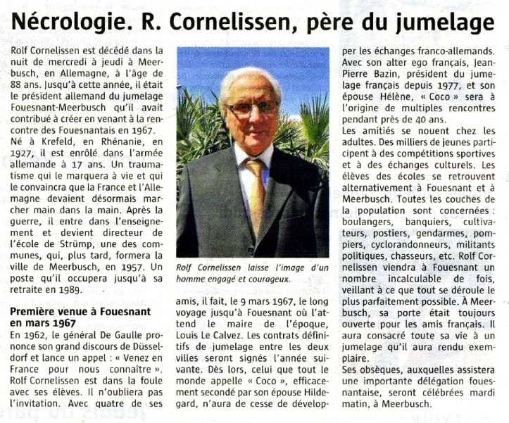 Le télégramme - 19 septembre 2015 - texte : Jean-Yves Le Dréau