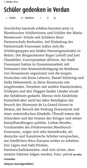 Extratipp am Sonntag - Meerbusch - 7.10.2016