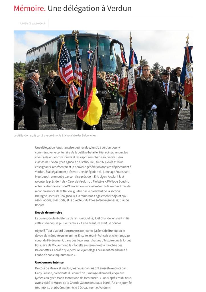 Le télégramme.fr - 6 octobre 2016