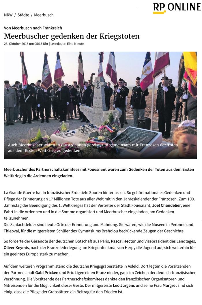 Meerbuscher gedenken Kriegstoten