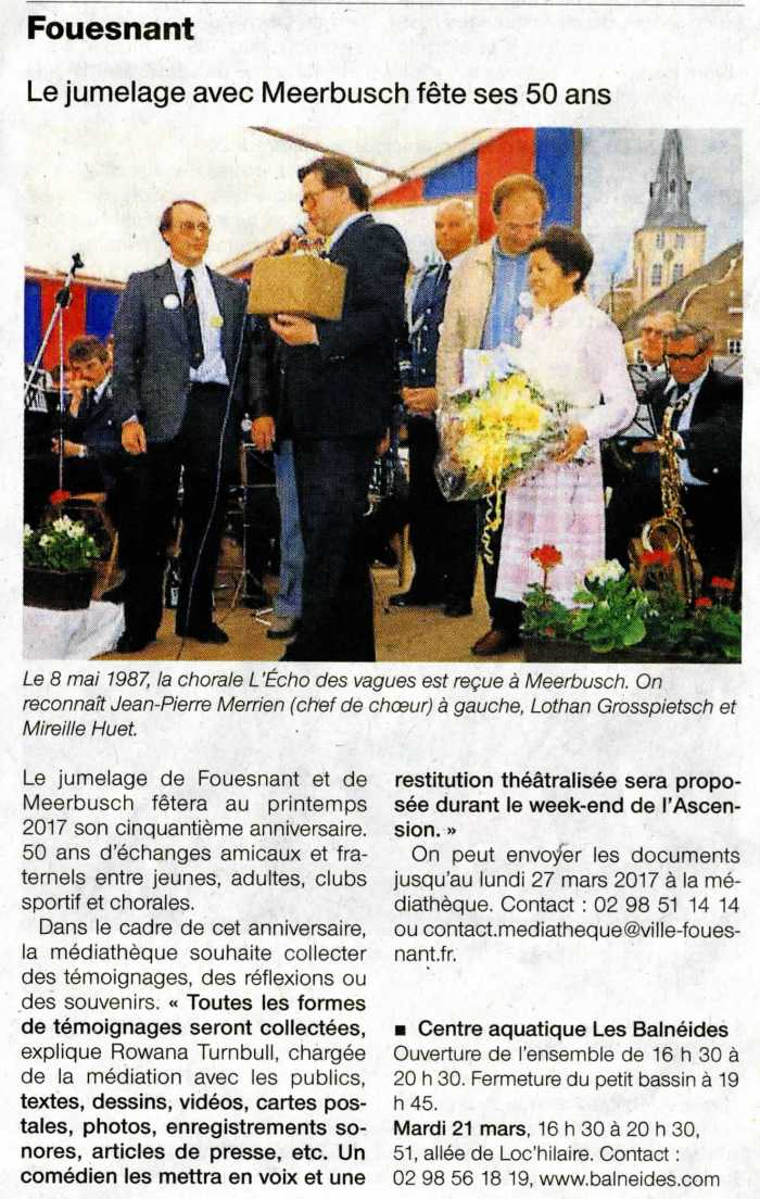 Ouest France 21 mars 2017