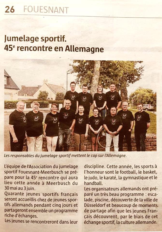 Le Télégramme, 28 mai 2019
