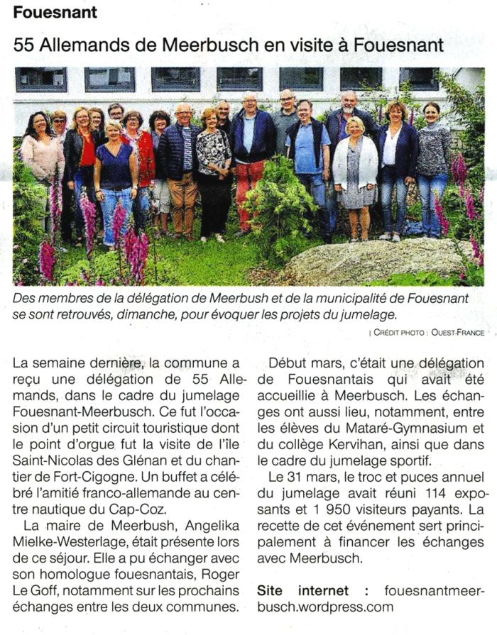 Ouest France, 3 juin 2019
